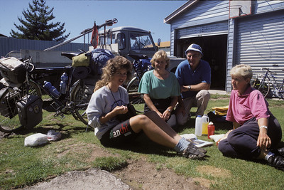 © RobAng 1989, New Zealand by bicycle, Benneydale, 14.2.89