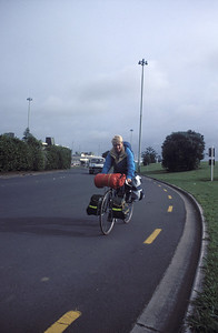 © RobAng 1989, New Zealand by bicycle, Ankunft in Auckland 27.1.89