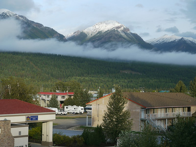 Revelstoke (from hotel window), Revelstoke, 1337.4 m.ü.M., British Columbia, Kanada