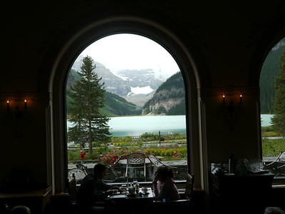 Lake Louise - the lake & Chateau Fairmont, Banff-/Jasper National Park, 825.1 m.ü.M., Alberta, Kanada