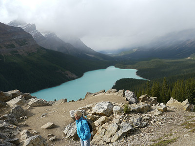 Payto Lake (Bow Pass), Banff-/Jasper National Park - Icefields Parkway, 810.3 m.ü.M., Alberta, Kanada