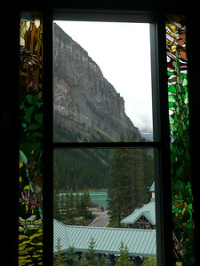 Lake Louise - the lake & Chateau Fairmont, Banff-/Jasper National Park, 826.8 m.ü.M., Alberta, Kanada