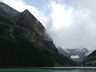 Lake Louise - the lake, Banff-/Jasper National Park, 829.7 m.ü.M., Alberta, Kanada