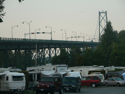 Vancouver Camping Lions Bridge, Vancouver, .ü.M., British Columbia, Kanada
