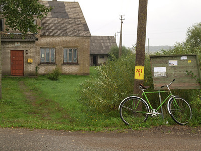 Etappe Klapeida - Mazeikiai (Lithuania - Litauen) / Winterthur-St.Peterburg-Winterthur by bicycle / © Rob Tani, 21.8.08