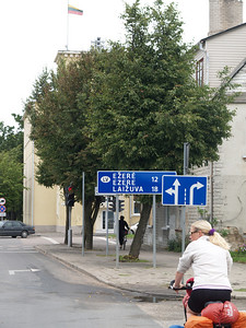 Etappe Mazeikiai (Lithuania - Litauen)  - Tukums (Latvia-Lettland) / Winterthur-St.Peterburg-Winterthur by bicycle / © Rob Tani, Mazeiklai 22.8.08