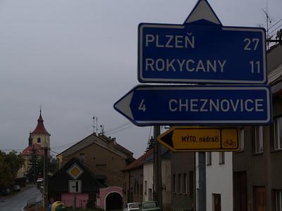 Etappe Prag - Plzen (Czech Republic-Tschechien) / Winterthur-St.Peterburg-Winterthur by bicycle / © Rob Tani, 24.9.08