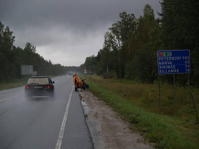 Etappe Joehvi (Estonia-Estland)  - Kingisepp  (Russia-Russland) / Winterthur-St.Peterburg-Winterthur by bicycle / © Rob Tani, 29.8.08