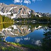 Silver Mountain in the San Miguel Range reflects in one of the Alta Lakes near Telluride, Colorado.