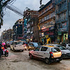 STREETS OF KATMANDU, NEPAL AT TWILIGHT.