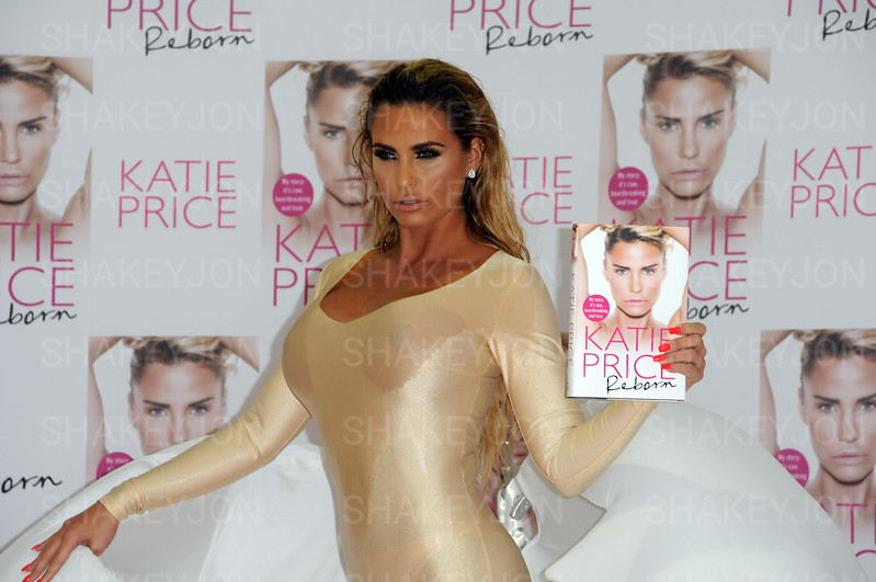 "Katie Price launches her sixth autobiography ""REBORN""."