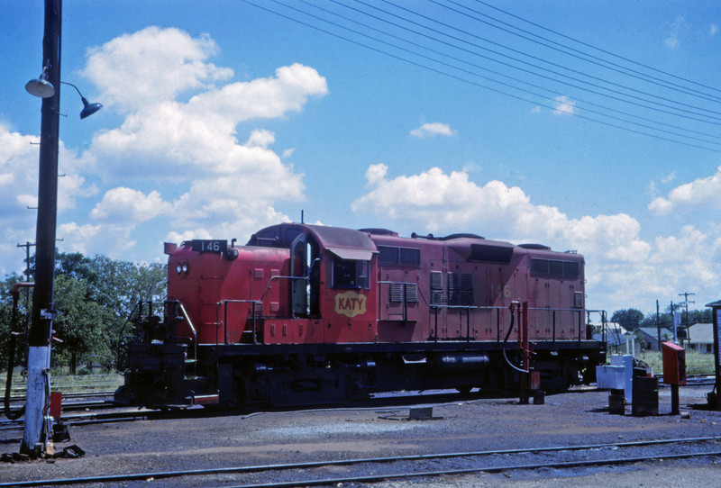 MK&T 11 - Aug 1962 - Locomotive @ Ft Worth TX