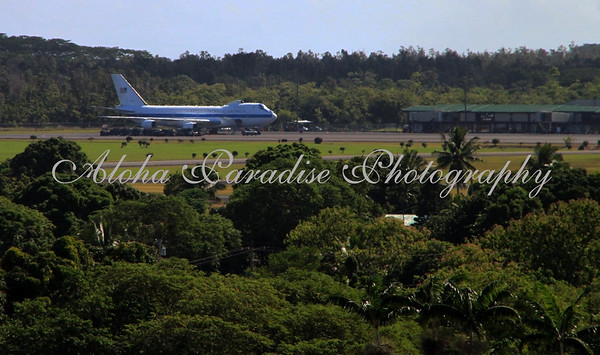 AIR FORCE ONE, HILO AIRPORT, HAWAII