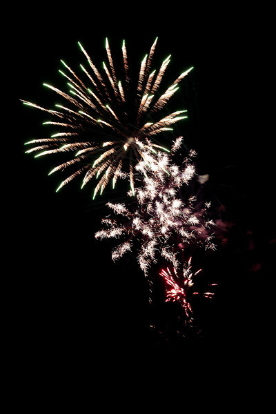 Fireworks display at Krause Springs