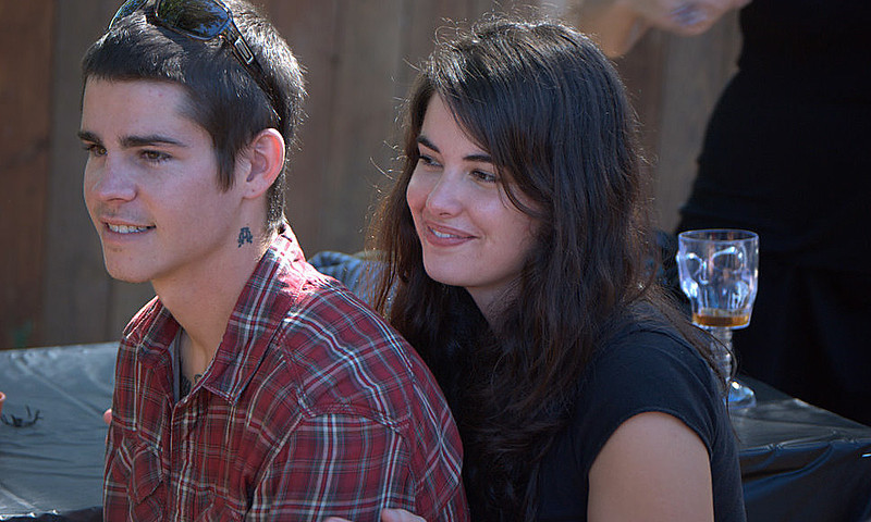 (Step) son Brian and his girlfriend, McKinley.  They are beautiful, inside and out.