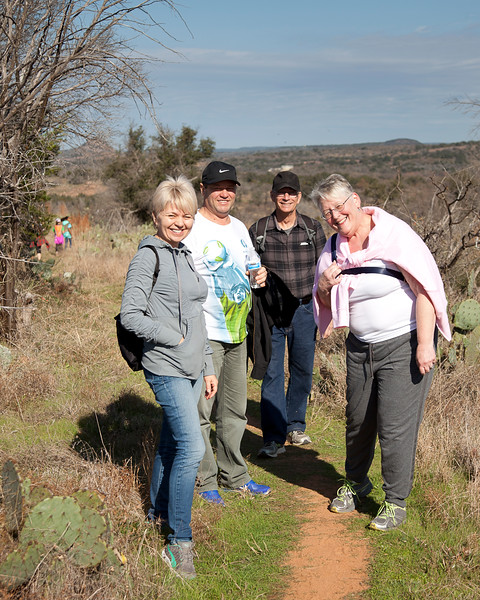 Visitors from Iceland enjoy their First Day Hike