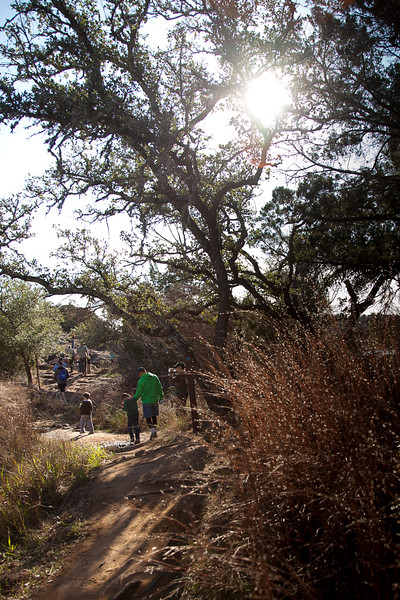 Beautiful winding trails, and sunshine bouncing off the native grasses
