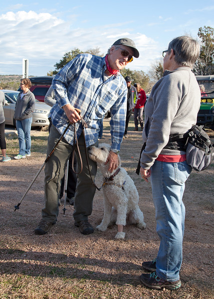 Lots of four legged hikers came out for New Years Day
