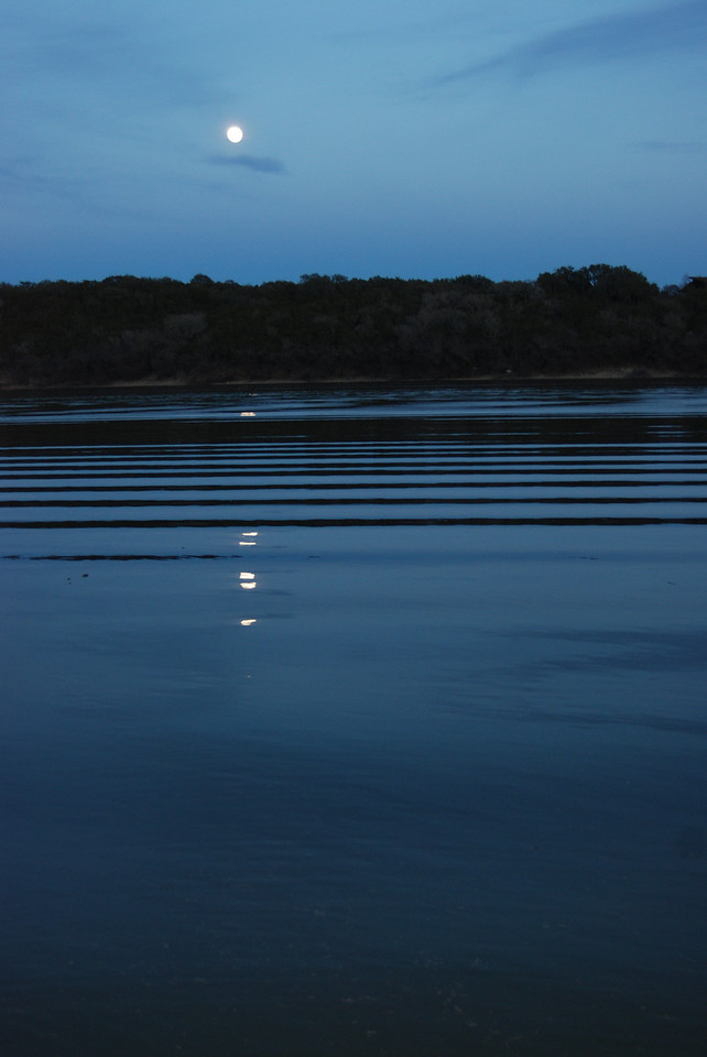 Moonlight on Lake Travis.  So peaceful.