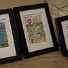 3 of 5 small framed prints