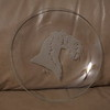 small older glass plate with acid etched kerry