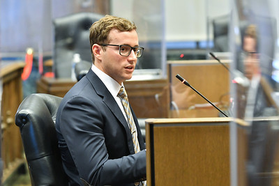 Brian Platt, a candidate for Kansas City city manager answers questions from council members on Friday, Oct. 2.