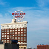 The Western Auto Building in the Crossroads neighborhood in Kansas City, Missouri. The building, originally built in 1914, is now a loft condominium.