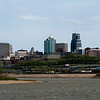 The view of downtown Kansas City, Missouri, from Kaw Point at the Confluence of the Missouri and Kansas Rivers