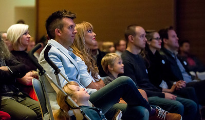 Joey and his family watching his Reboot Buggy film.