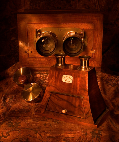 Antique Stereo Viewer and Camera