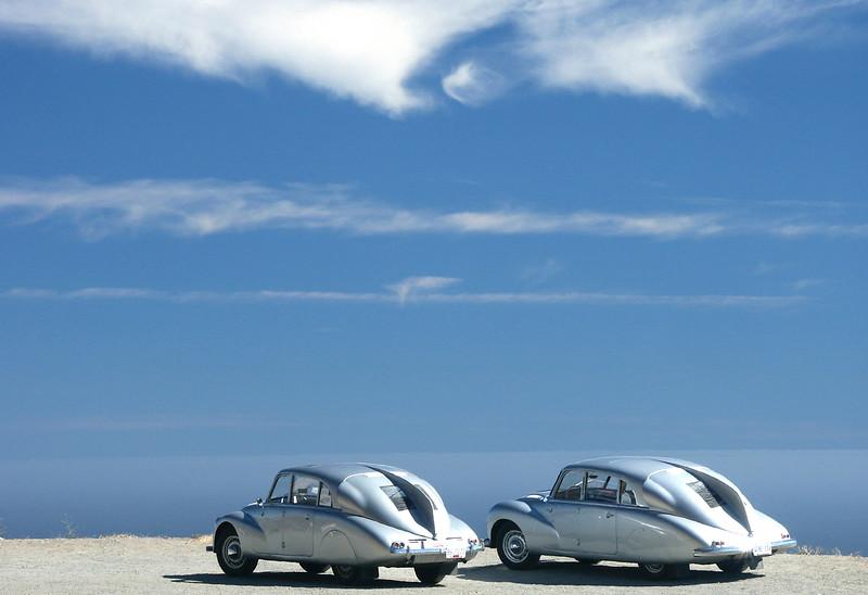 Two Tatra T87s
