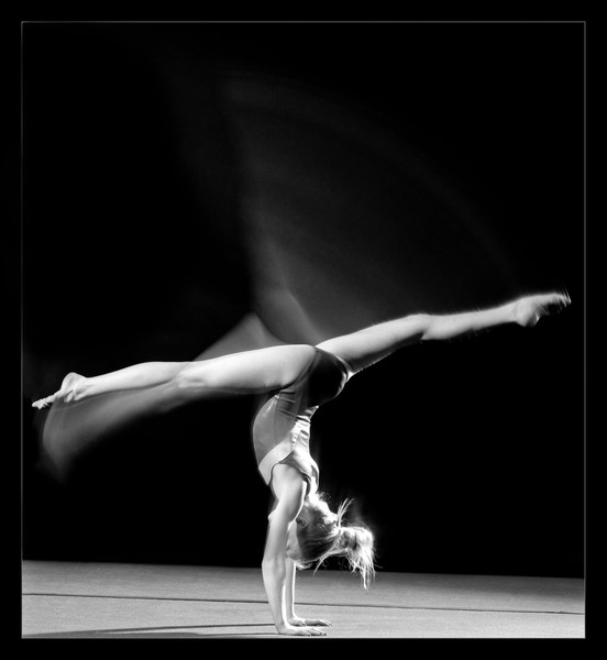 Gymnast Moving and Still