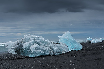 On Icy Beach, Iceland