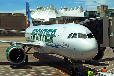 Frontier Airlines Airbus A320-251N N307FR 6-16-17 2