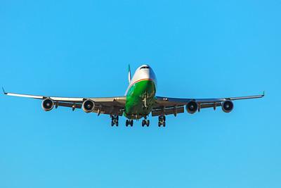 EVA Airways Boeing 747-45E(BDSF) B-16407 12-10-17