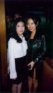 Nhi Nguyen (pledge at the time) and Christine Shiang at the Zeta Class' Appreciation Dinner during pledging.