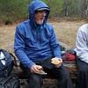 Lunch at Mueller Agamok campsite.
