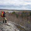 Susan, surveying the landscape.