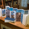 """""""Panoramic Tree Portraits"""" artist book, front and back"""