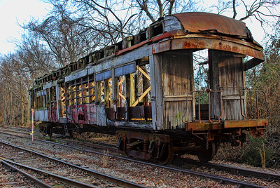 "Louisville & Nashville Railroad Coach # 109  passenger & freight car built in 1882. Known as the ""Jim Crow"" car"