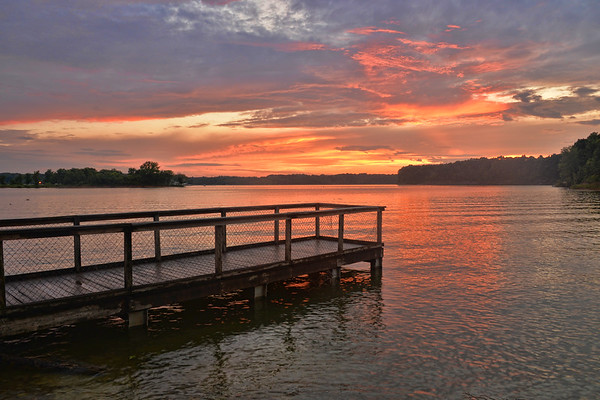 Sunset at Barren River Lake State Resort Park