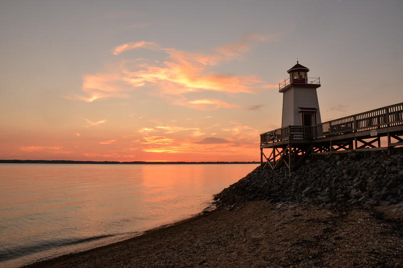 Sunset at Lighthouse Landing