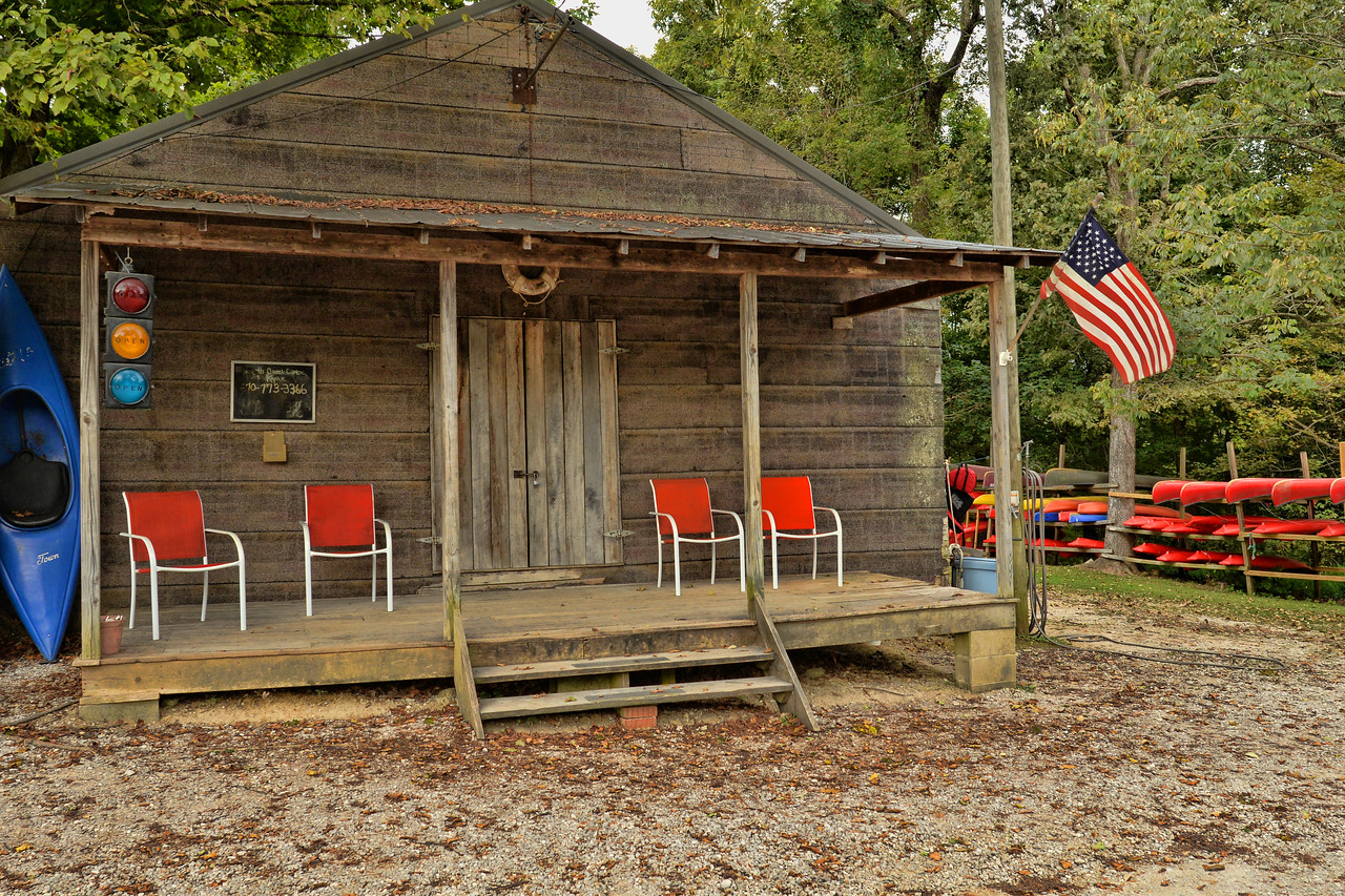 Such a cute little canoe & kayak rental store located just before entering Mammoth Cave National Park