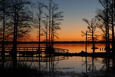 Sunrise at Reelfoot Lake, TN