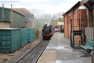 32670 leads Charwelton with a freight working from Tenterden