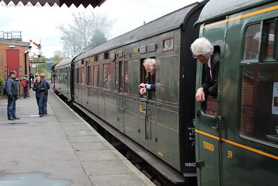 The Maunsell carriage in the train