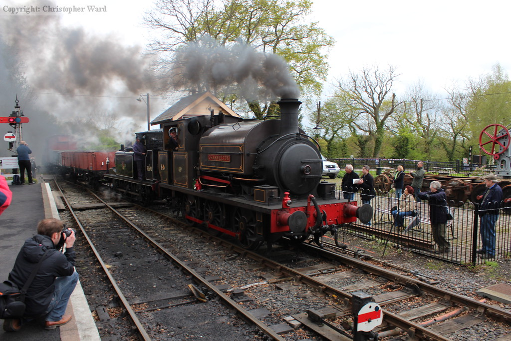 The two 0-6-0T engines run in with the goods from Wittersham Road