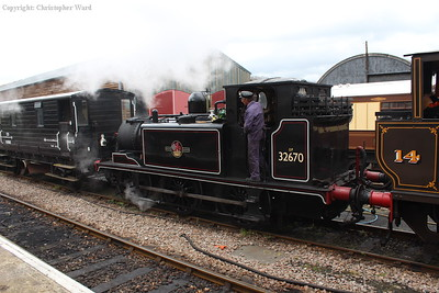 32670 with Charwelton after shunting the goods