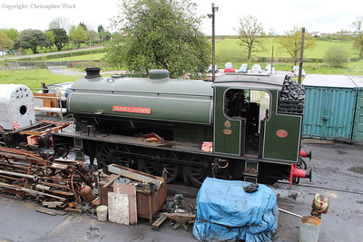 The Austerity in the shed yard at Rolvenden