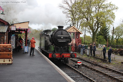1744 runs through the station at Tenterden during the mini-cavalcade